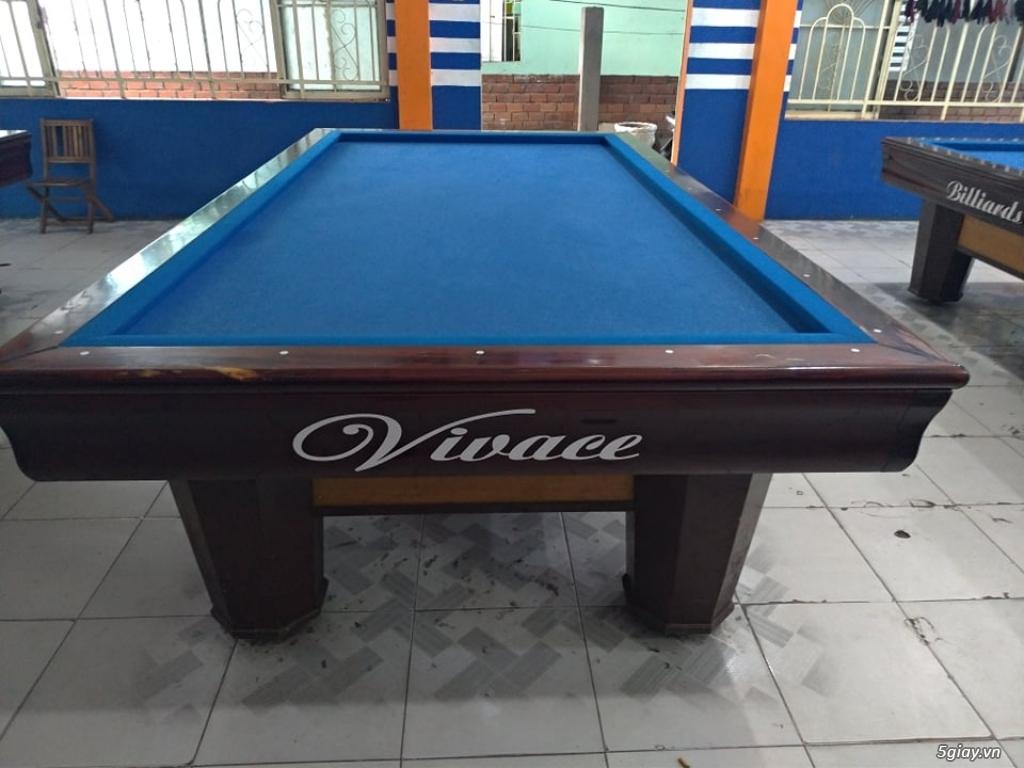 Cần bán 5 bàn bida Vivace; mỗi bàn 10,5 triệu; mua 5 bàn thì 50 triệu.