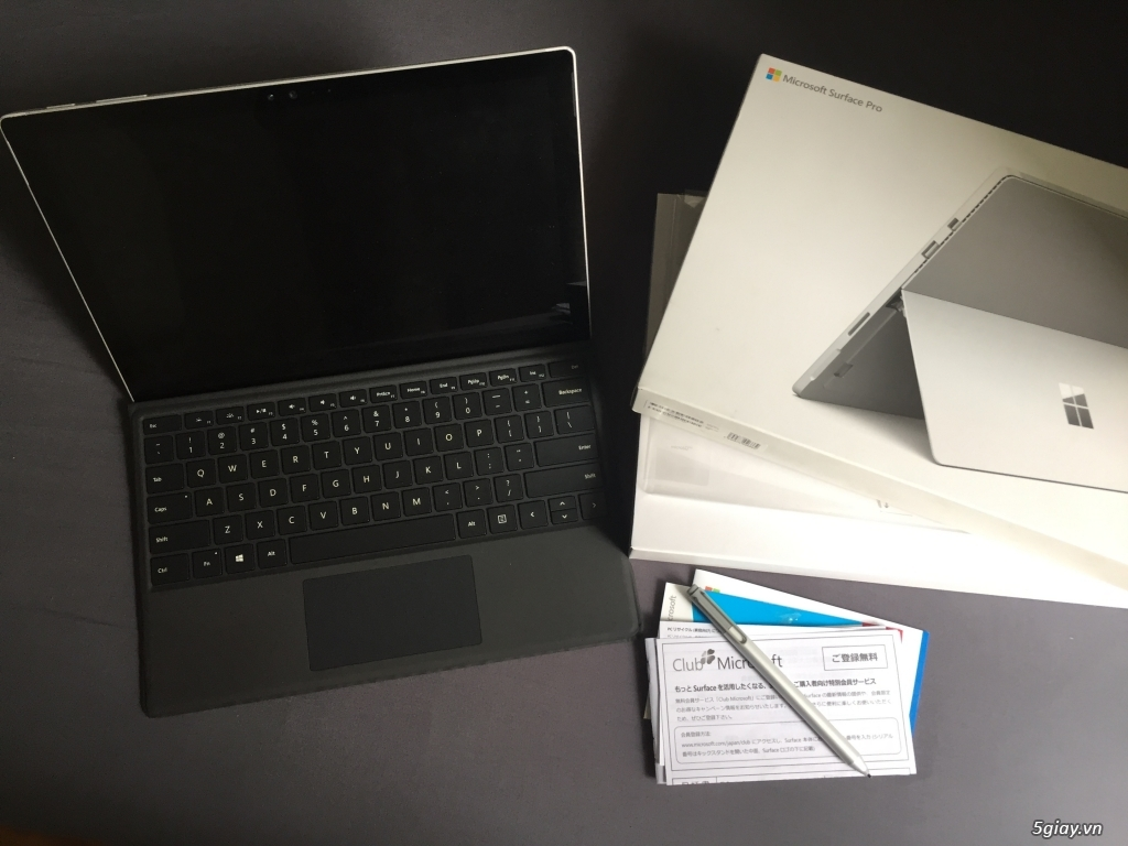 Surface pro 4 fullbox + type cover + bút