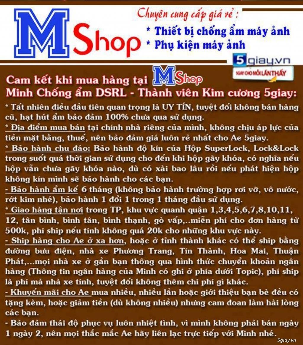 [mshopcamera] hộp chống ẩm, hạt hút ẩm (xanh, trắng), ẩm kế cơ, điện tử, mút chống sốc - giá rẻ !!! - 2