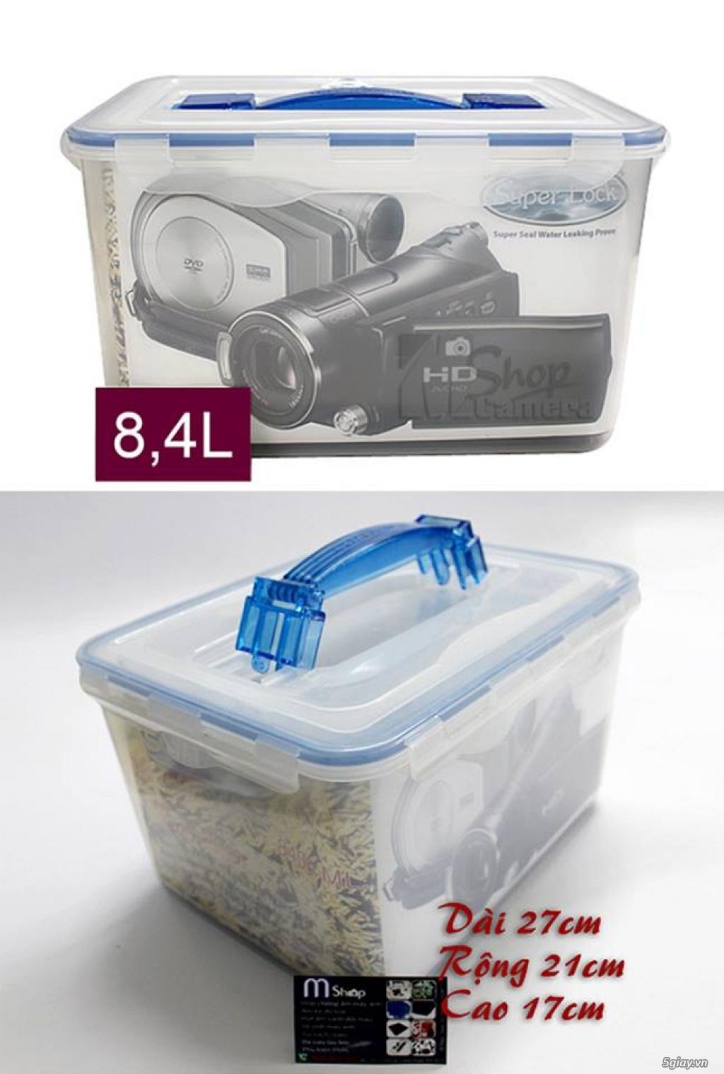 [mshopcamera] hộp chống ẩm, hạt hút ẩm (xanh, trắng), ẩm kế cơ, điện tử, mút chống sốc - giá rẻ !!! - 10