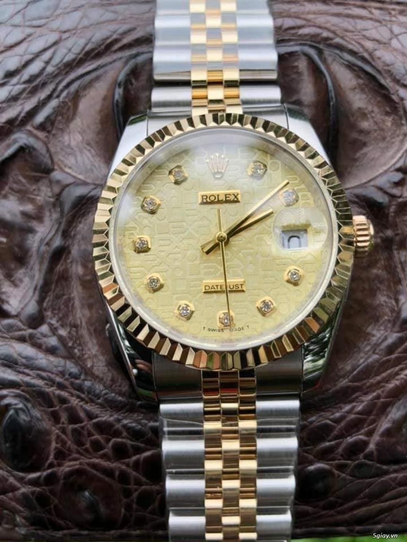 Chuyên Rolex bọc vàng 18k,độ máy chính hãng,kim cương - 30