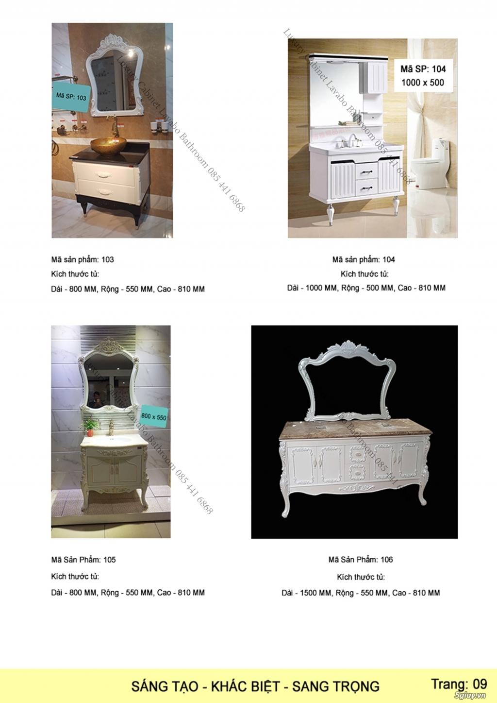 Bán tủ chậu lavabo tân cổ điển, hiện đại, tủ chậu mặt đá phòng tắm - 10