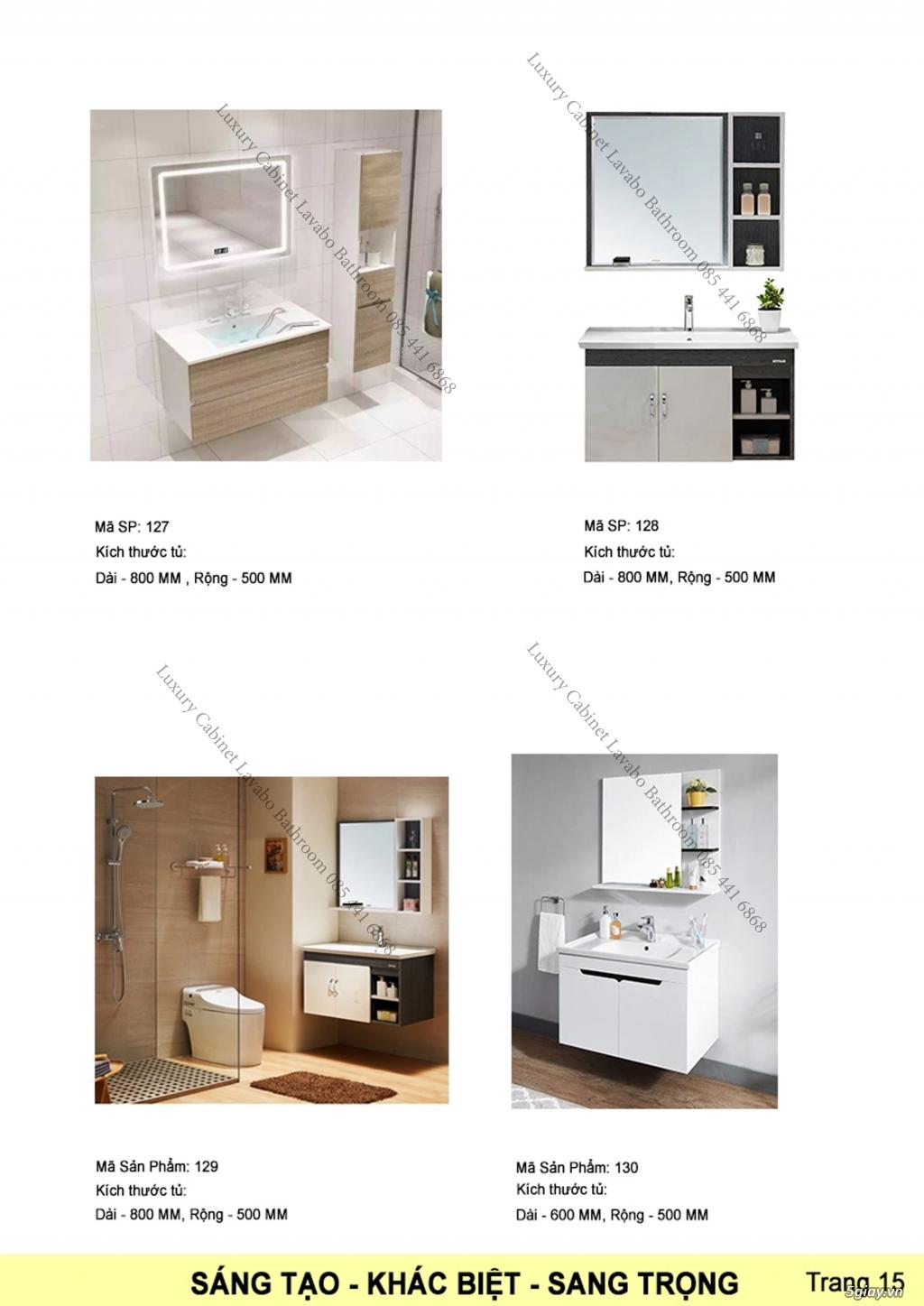 Bán tủ chậu lavabo tân cổ điển, hiện đại, tủ chậu mặt đá phòng tắm - 16