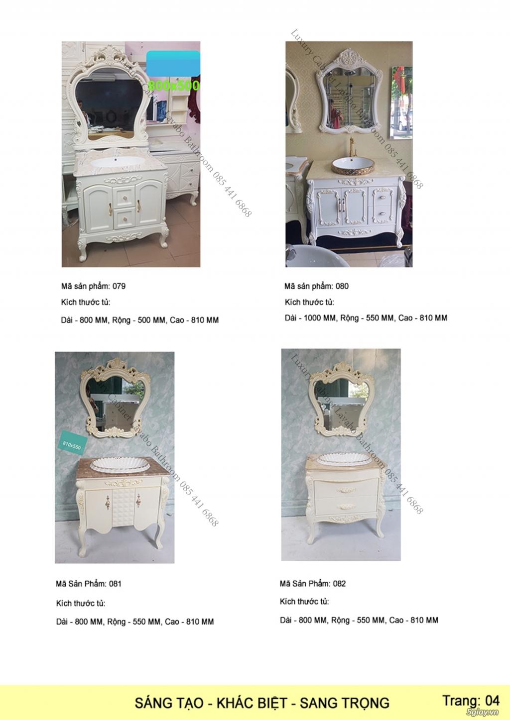 Bán tủ chậu lavabo tân cổ điển, hiện đại, tủ chậu mặt đá phòng tắm - 5
