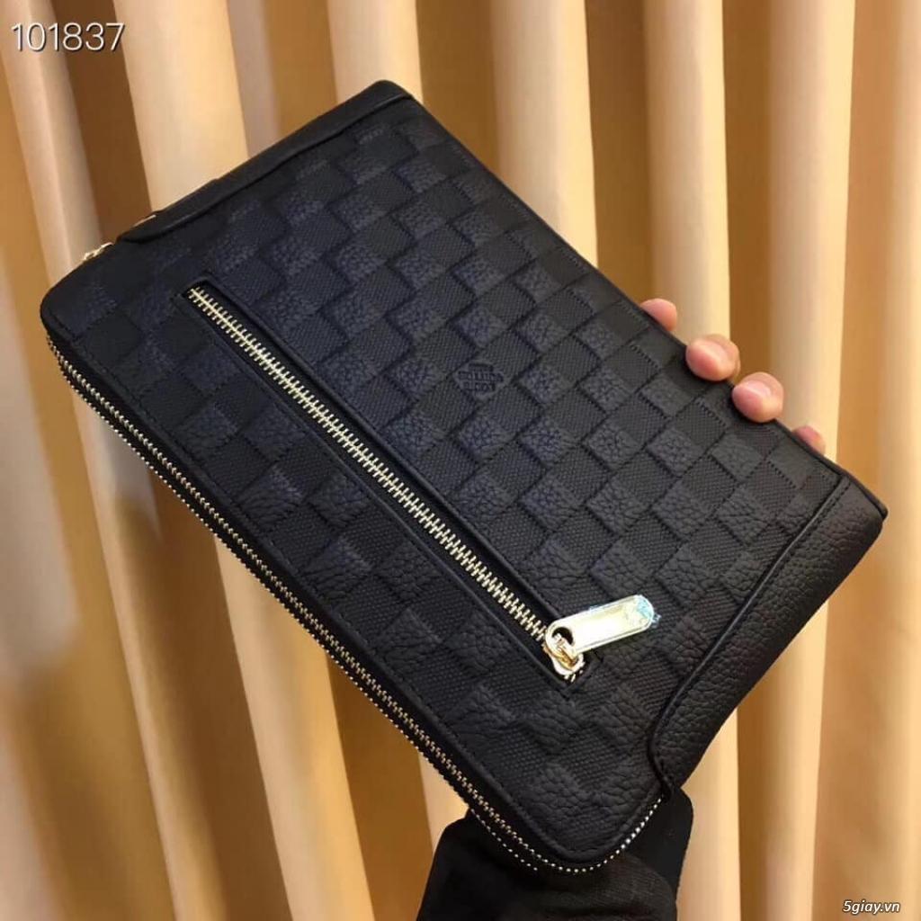 Túi clutch LV cầm tay 2 ngăn khóa kéo - 4