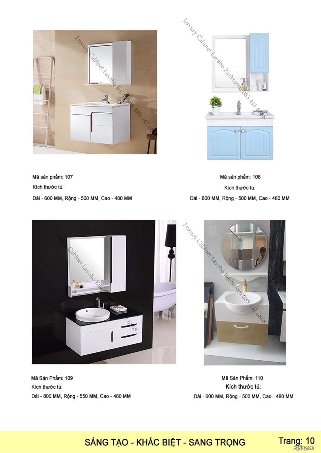 Bán tủ chậu lavabo tân cổ điển, hiện đại, tủ chậu mặt đá phòng tắm - 11