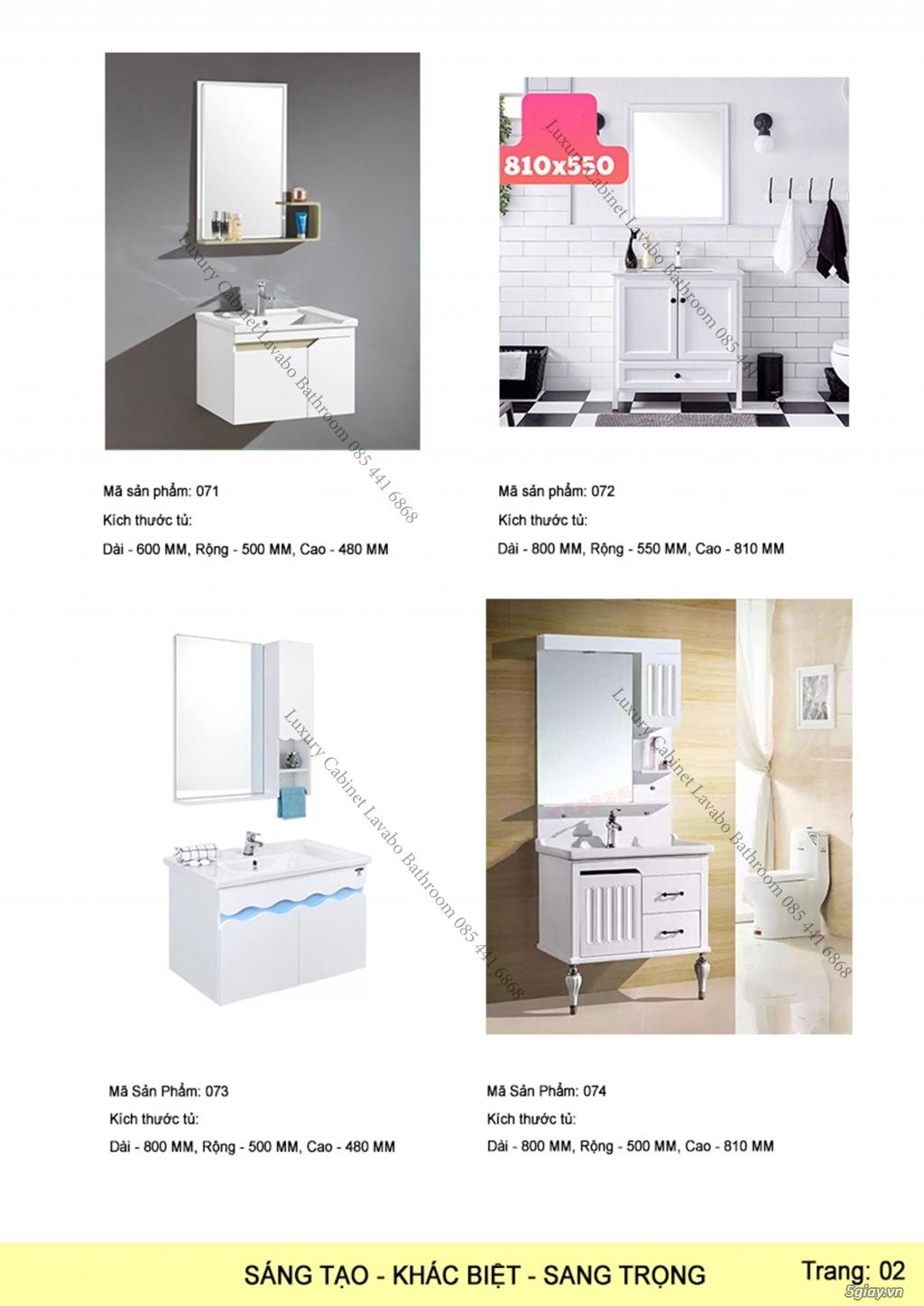 Bán tủ chậu lavabo tân cổ điển, hiện đại, tủ chậu mặt đá phòng tắm - 3