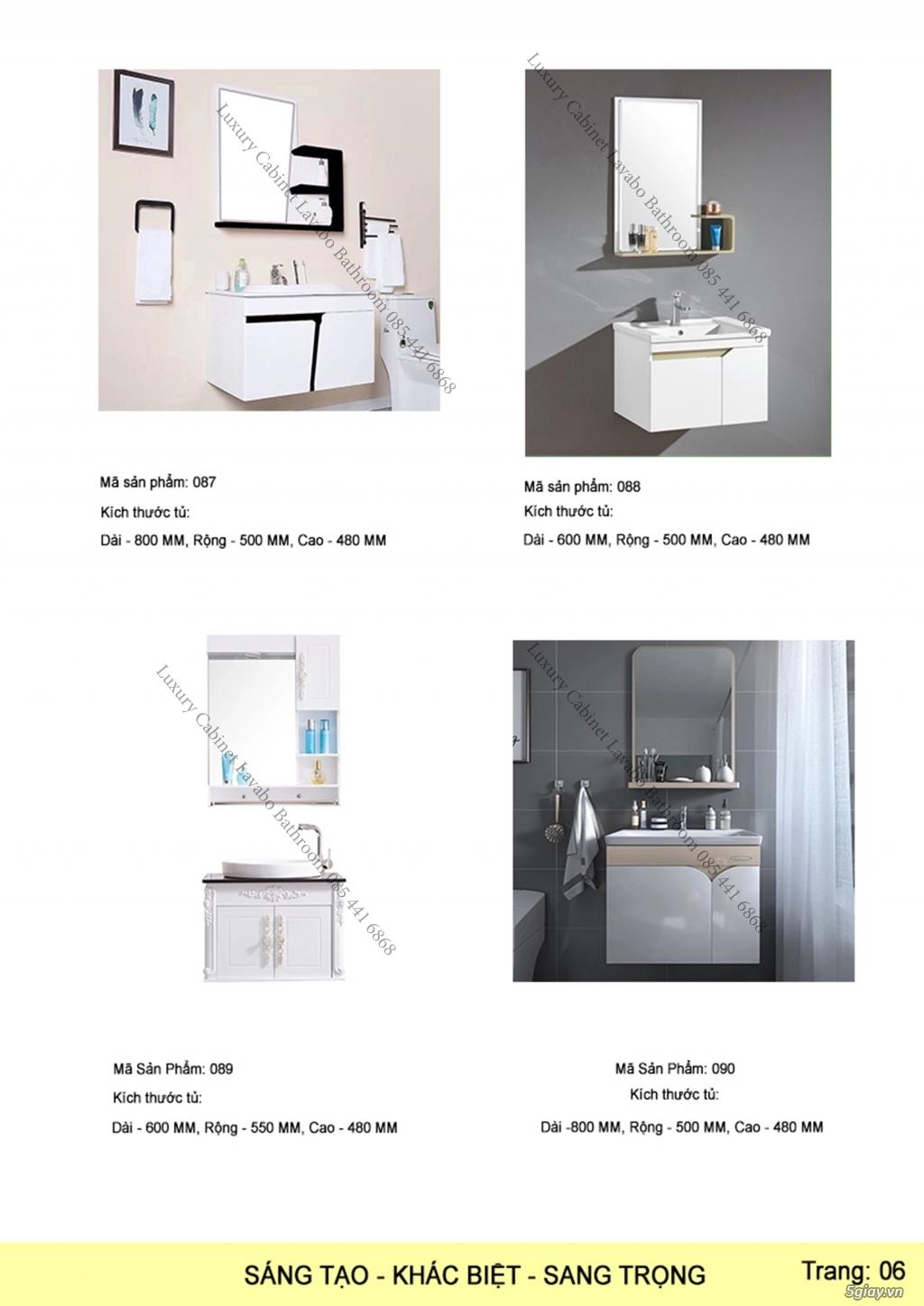Bán tủ chậu lavabo tân cổ điển, hiện đại, tủ chậu mặt đá phòng tắm - 7