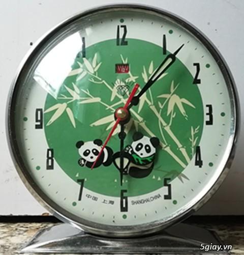 đồng hồ chạy cơ để bàn ko dùng đến pin có chất năng báo thức - 39