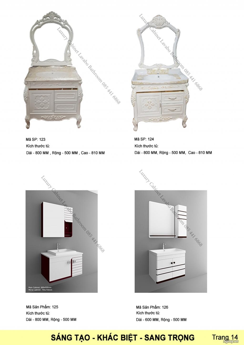 Bán tủ chậu lavabo tân cổ điển, hiện đại, tủ chậu mặt đá phòng tắm - 14