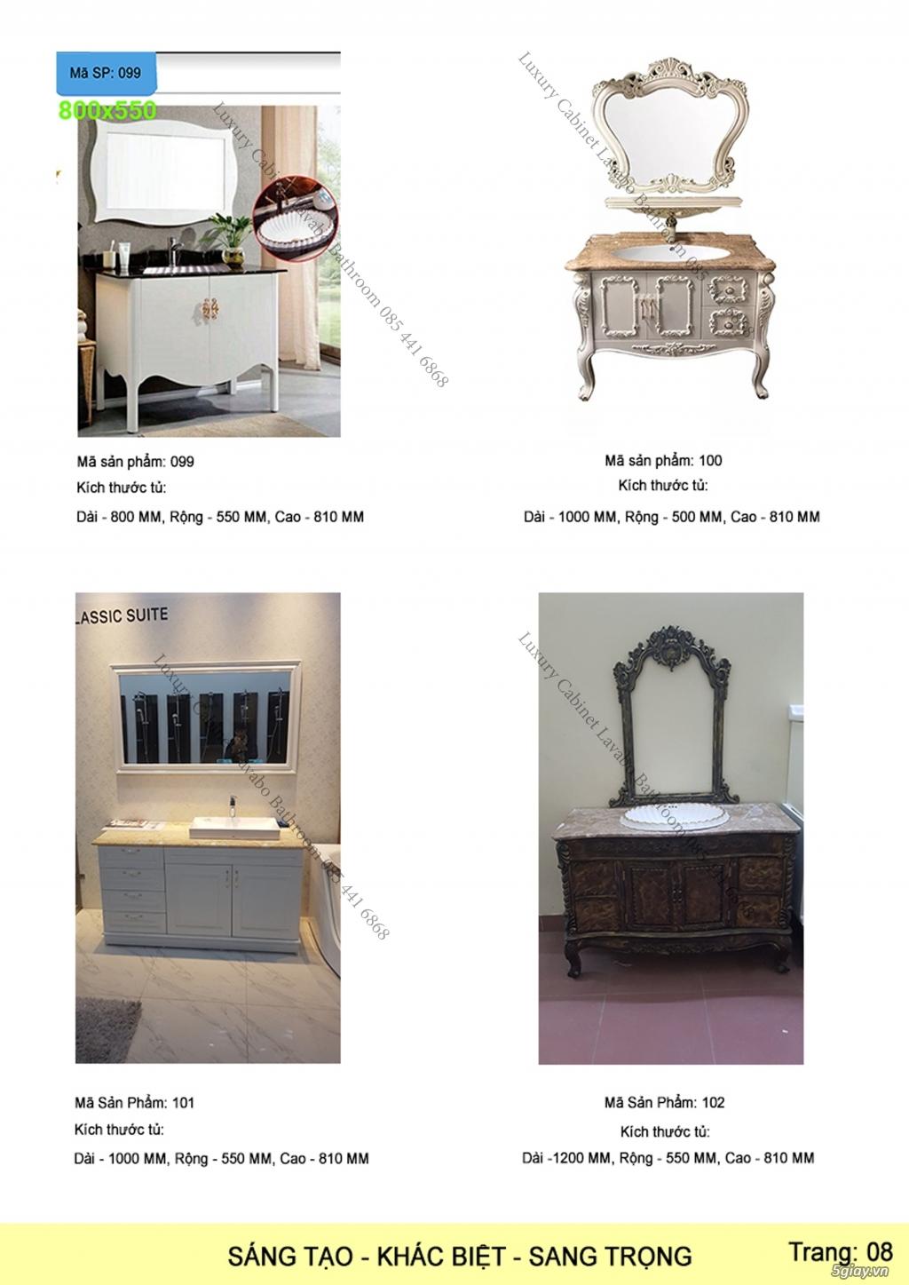 Bán tủ chậu lavabo tân cổ điển, hiện đại, tủ chậu mặt đá phòng tắm - 9