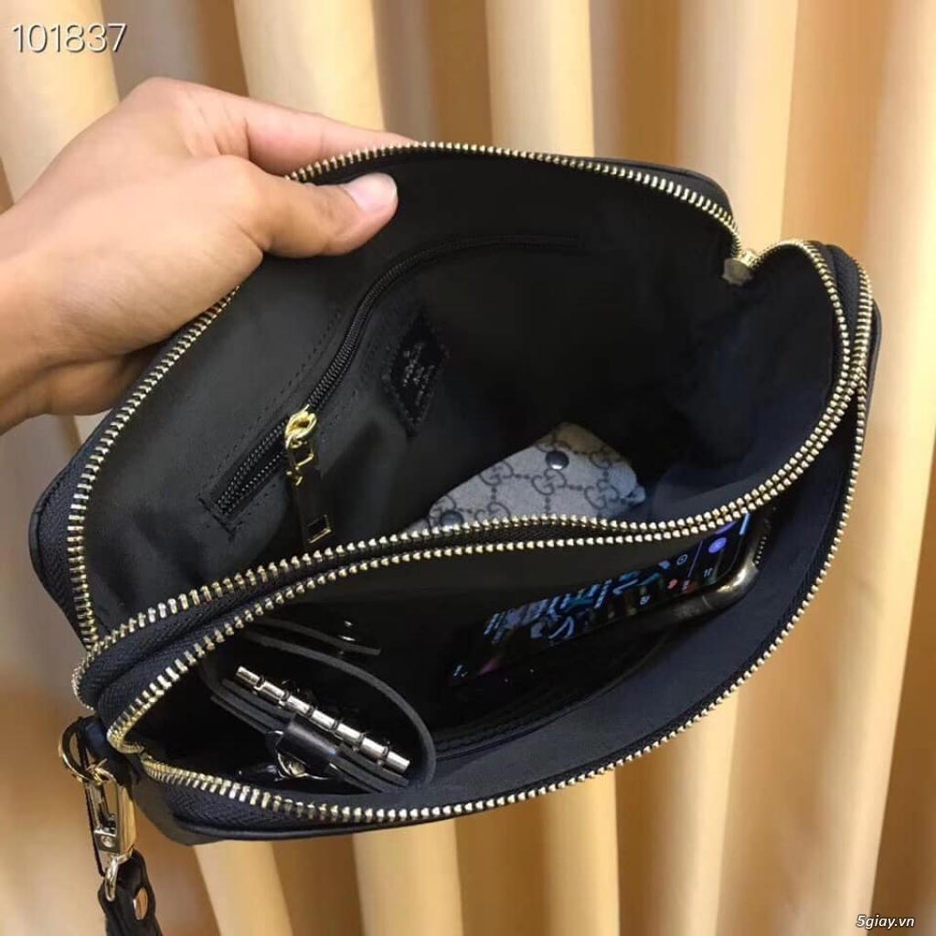 Túi clutch LV cầm tay 2 ngăn khóa kéo - 1