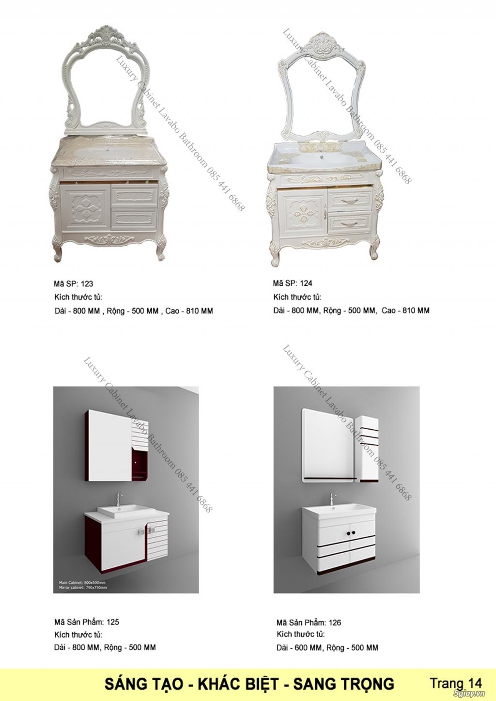 Bán tủ chậu lavabo tân cổ điển, hiện đại, tủ chậu mặt đá phòng tắm - 15