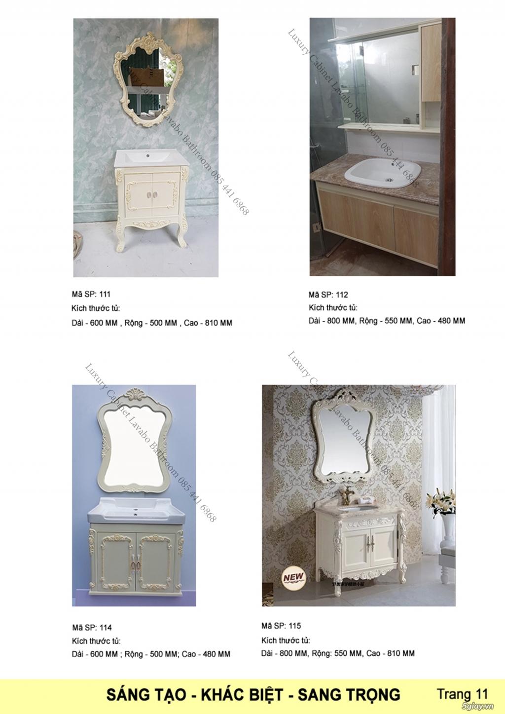 Bán tủ chậu lavabo tân cổ điển, hiện đại, tủ chậu mặt đá phòng tắm - 12