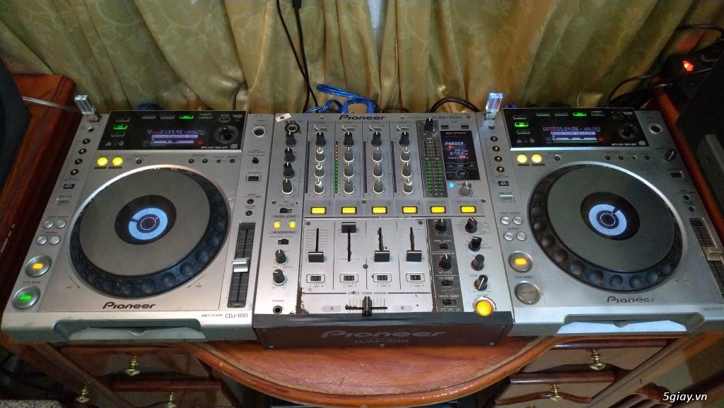 Dàn DJ Pioneer CDJ 850 + DJM 700 chơi USB cực nhạy - 5