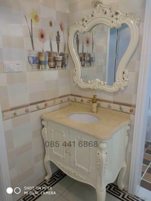 Bán tủ chậu lavabo tân cổ điển, hiện đại, tủ chậu mặt đá phòng tắm - 1