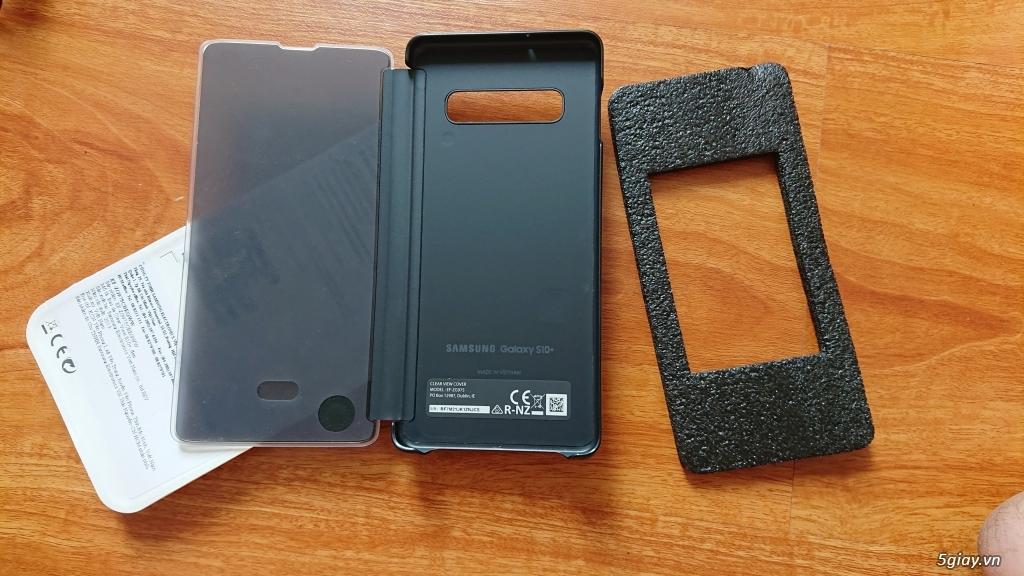 Bao da Samsung ClearView cho Galaxy S10 Plus màu đen mới 99% - 1