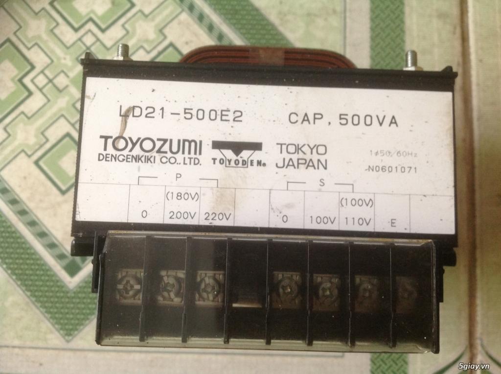 Biến áp cách ly Nhật 500VA -10KVA, lọc nguồn âm thanh.....