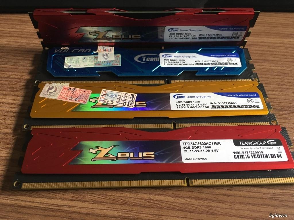 Ram máy tính DDR3 Gskill Ripjaws 4GB bus 1600 - GR4GB1600 - 1
