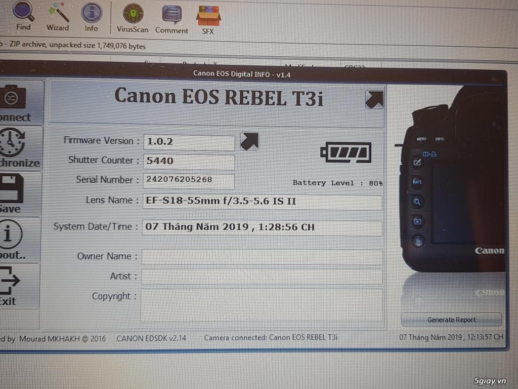 Cần bán: Máy ảnh Canon EOS REBEL T3i like new, rất ít dùng - 7