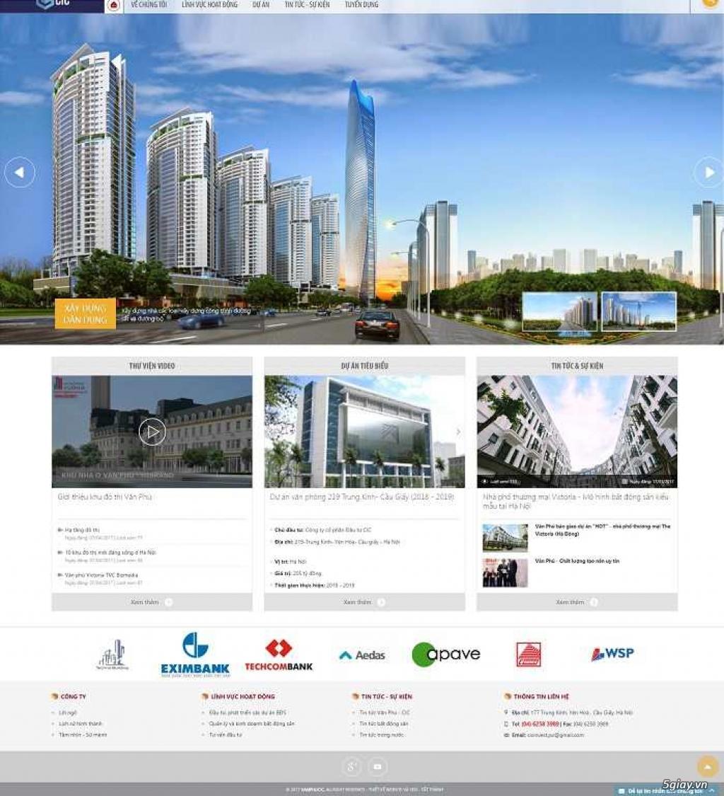 Thiết kế Website Chuyên nghiệp, Giá rẻ chỉ từ 1 triệu VNĐ - 1