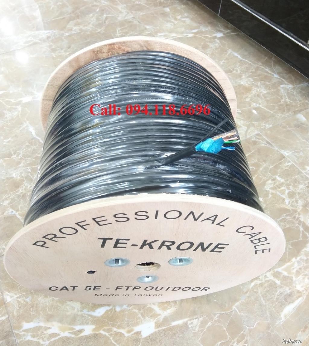 Cáp mạng TE-KRONE Cat5E Copper, CCA cáp chạy ngoài trời - 8