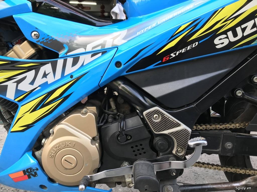 Suzuki Raider 150 xăng cơ 2014 màu xanh bstp