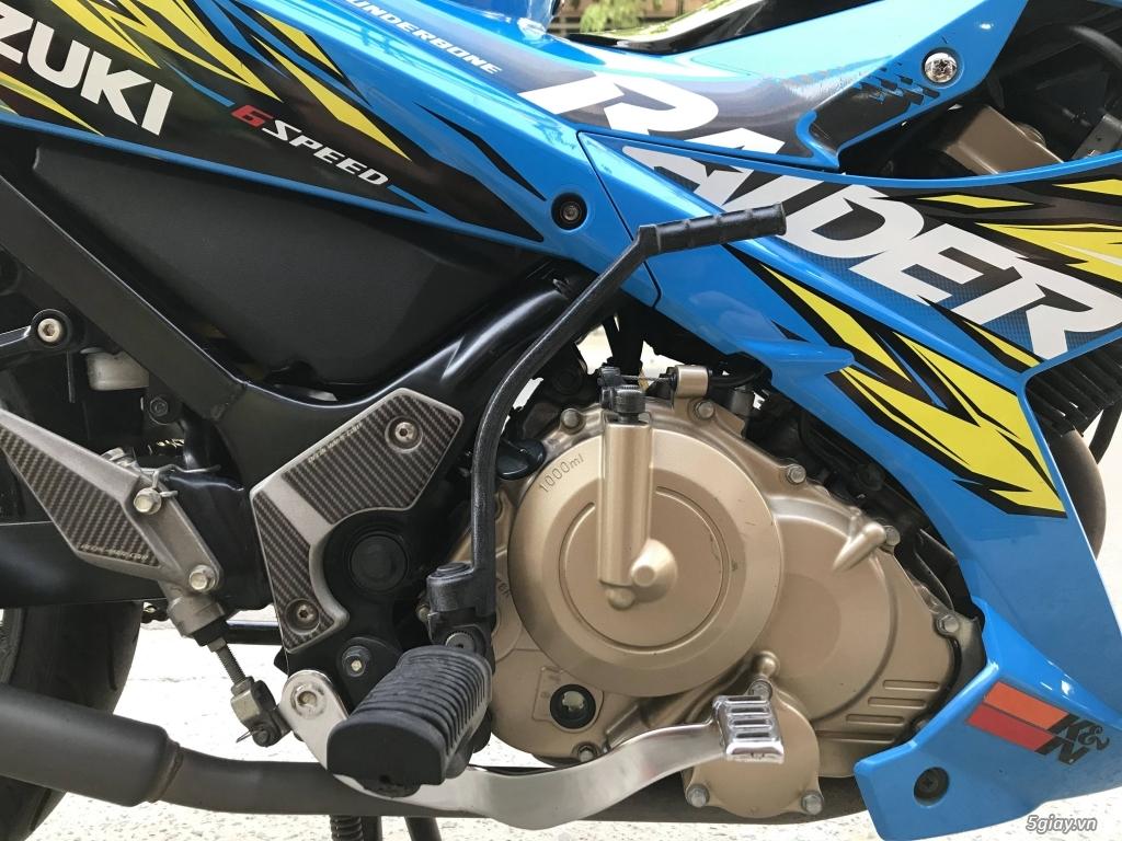 Suzuki Raider 150 xăng cơ 2014 màu xanh bstp - 1