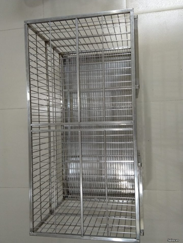 HCM-Chuồng inox size 101x51x61cm, có hai cửa - 1
