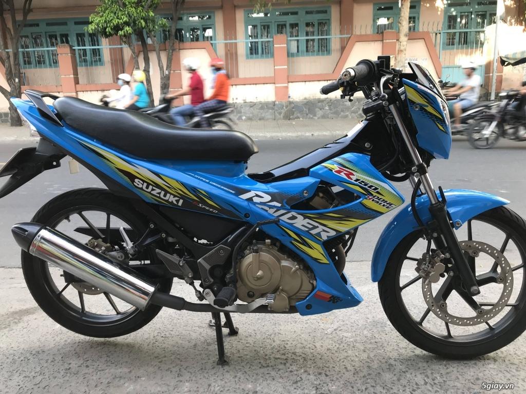 Suzuki Raider 150 xăng cơ 2014 màu xanh bstp - 3