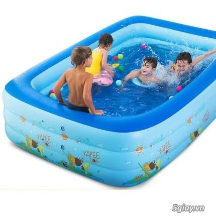 bể phao bơi chữ nhật cho trẻ em - 2
