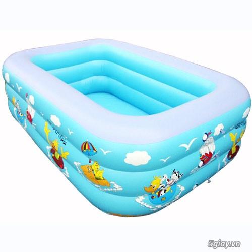 bể phao bơi chữ nhật cho trẻ em - 1