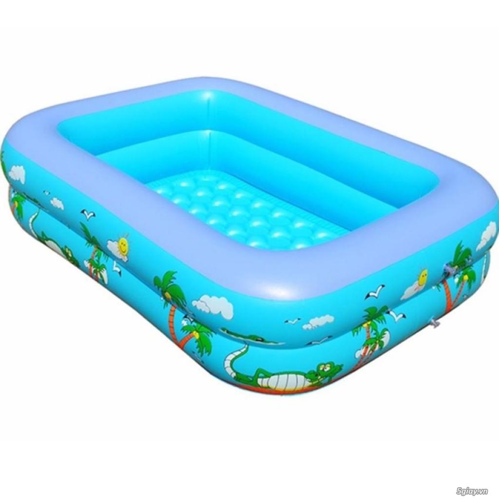 bể phao bơi chữ nhật cho trẻ em - 4