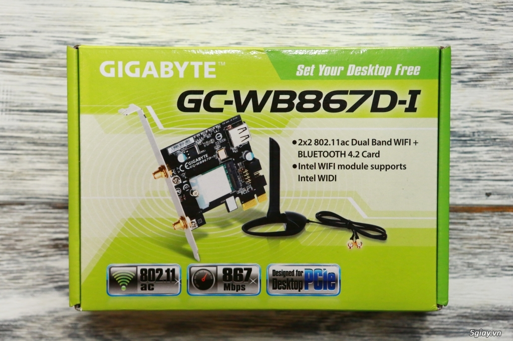 Gigabyte GC-WB867D-I Wifi Bluetooth PCI Card