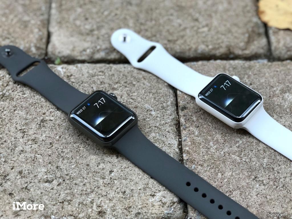 bán Apple Watch Series 3 GPS, 38mm viền nhôm dây cao su new 100% seal - 3