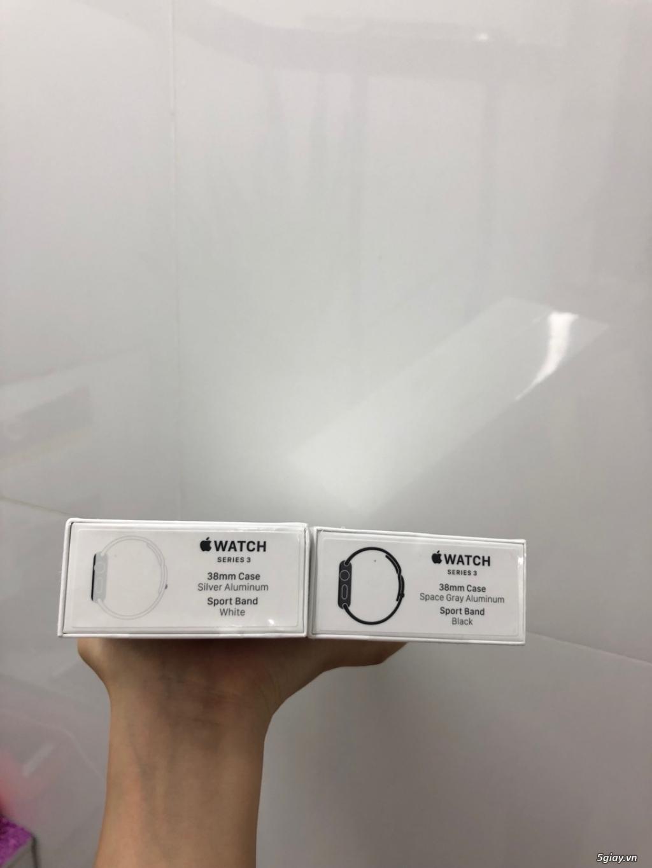 bán Apple Watch Series 3 GPS, 38mm viền nhôm dây cao su new 100% seal - 2