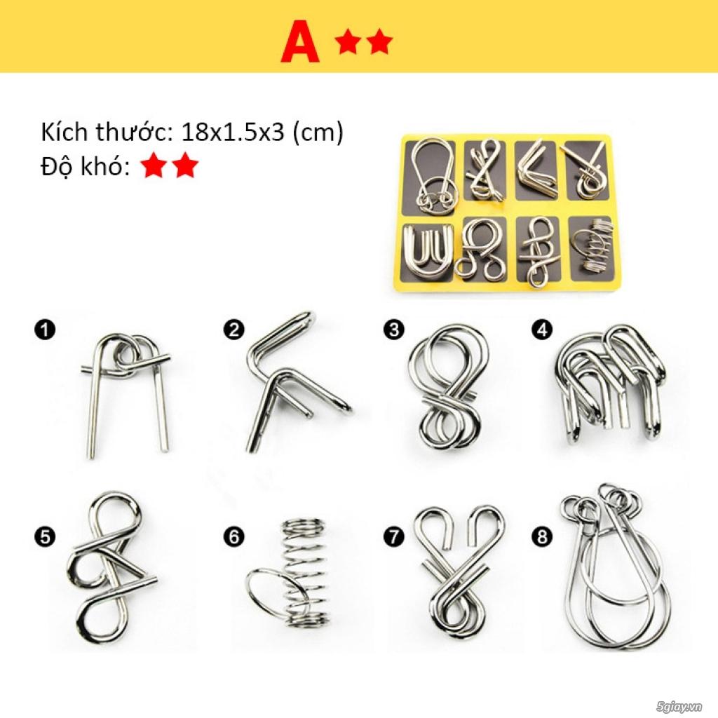 Metal Puzzles - Set 3 bộ x 8 = 24 cái - 1
