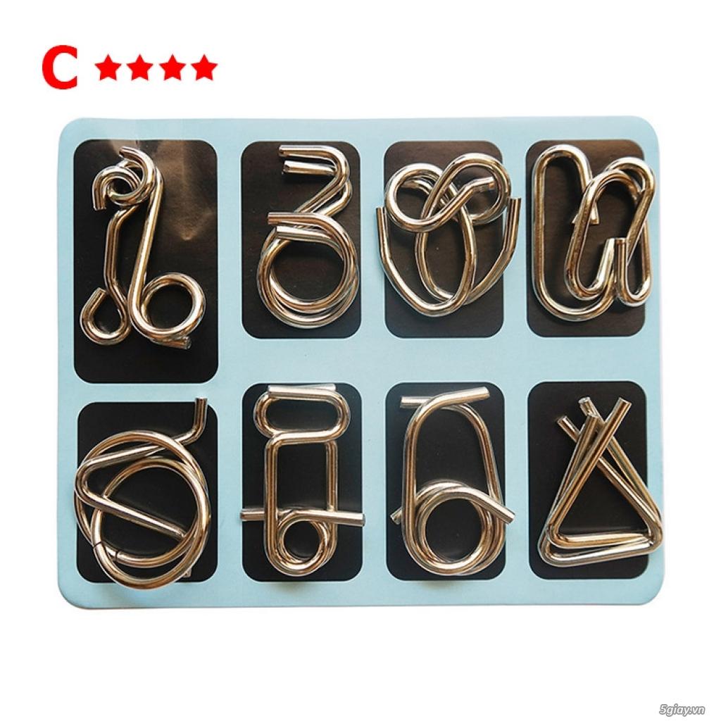Metal Puzzles - Set 3 bộ x 8 = 24 cái - 6
