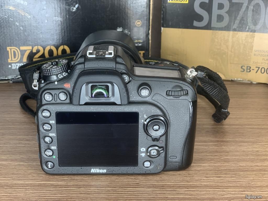 Nikon D7200 + lens 16-85 + đèn SB 700 - 7