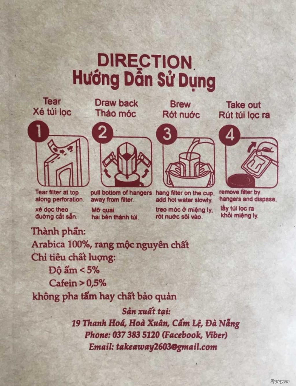 Cà Phê Túi Lọc Di Động - Drip coffee Filter -Drip Coffee - 26