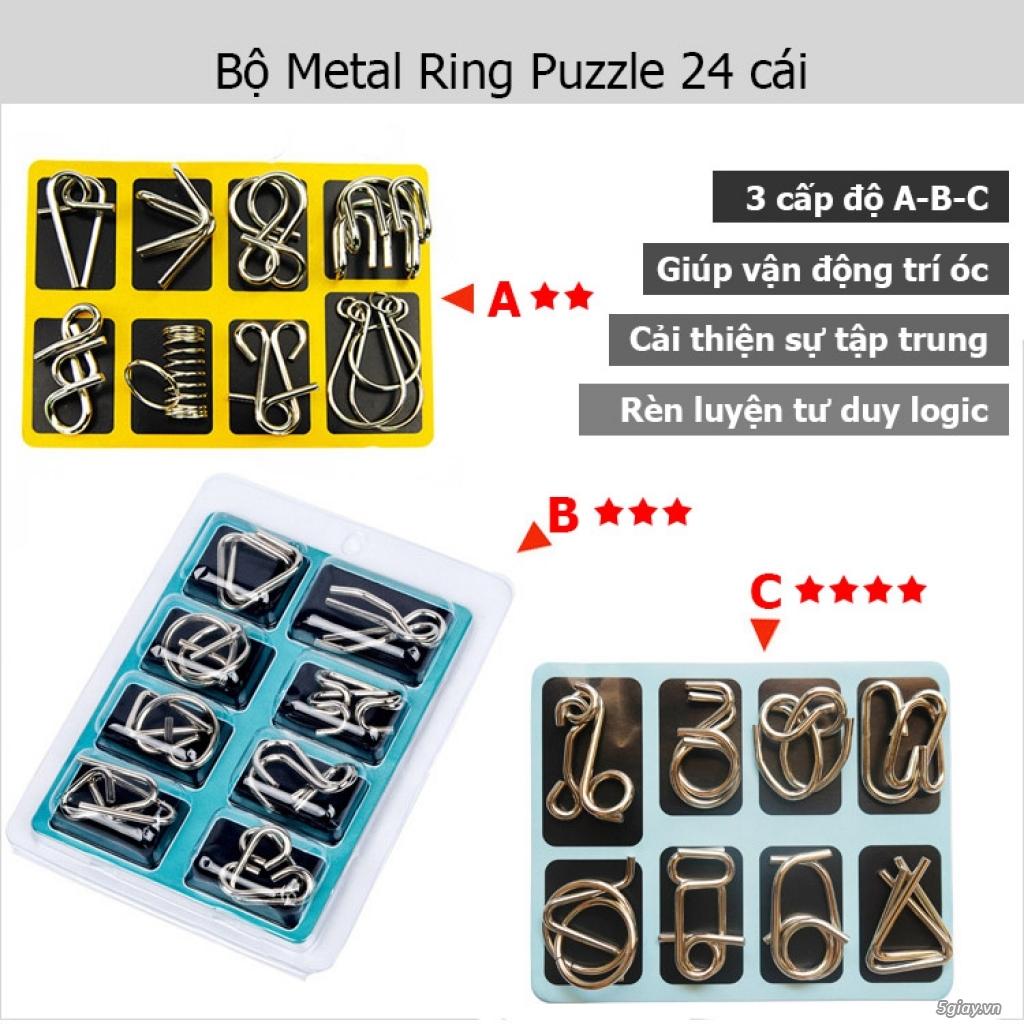 Metal Puzzles - Set 3 bộ x 8 = 24 cái