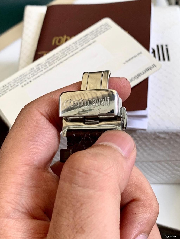 đồng hồ roberto cavalli thụy sỹ máy auto fullbox mới 99% - 5
