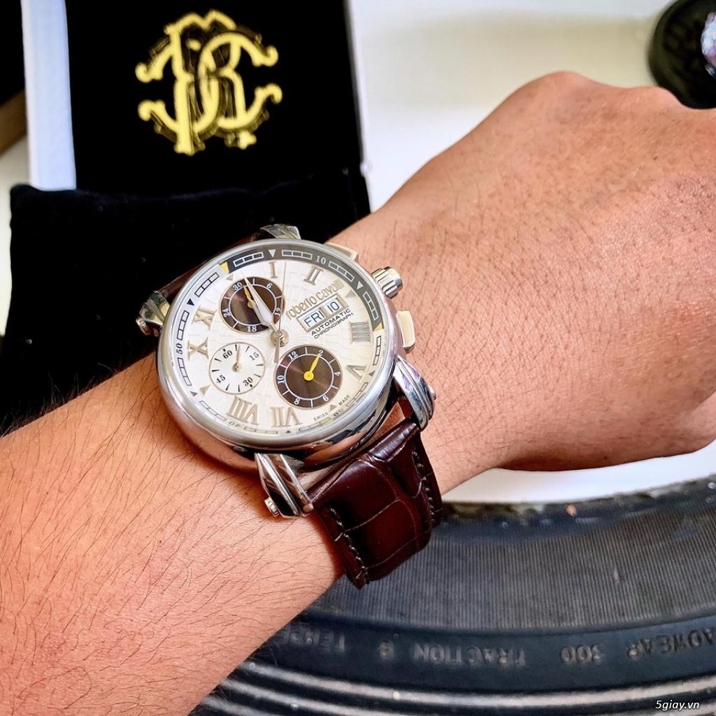 đồng hồ roberto cavalli thụy sỹ máy auto fullbox mới 99% - 8