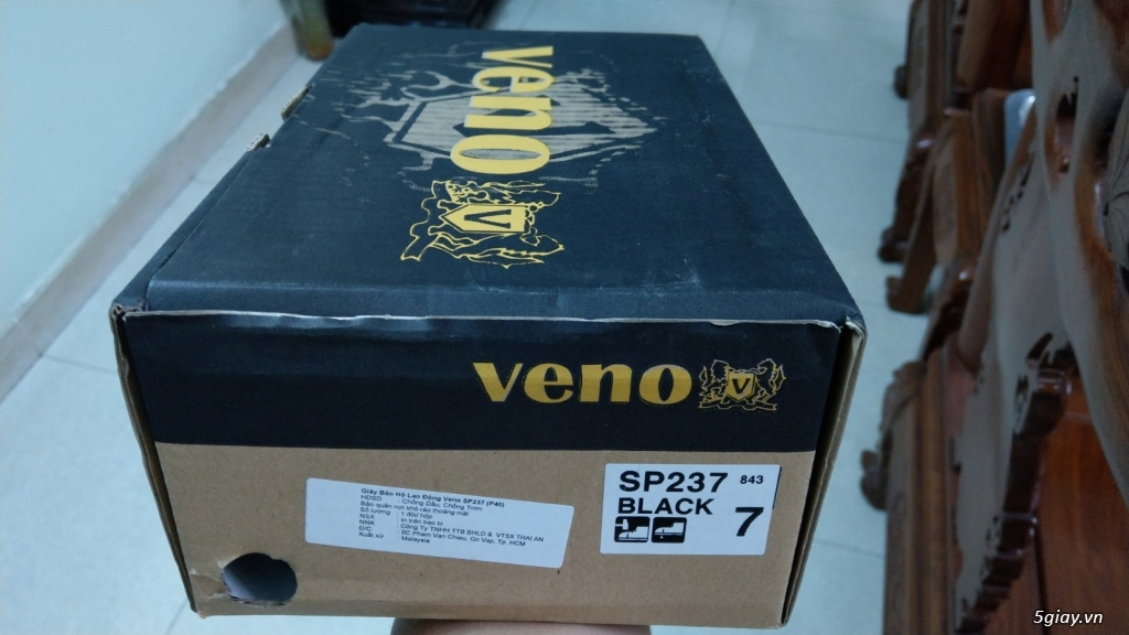 Giày bảo hộ Veno SP237 nguyên hộp mới 100% - Made in Malaysia - 1