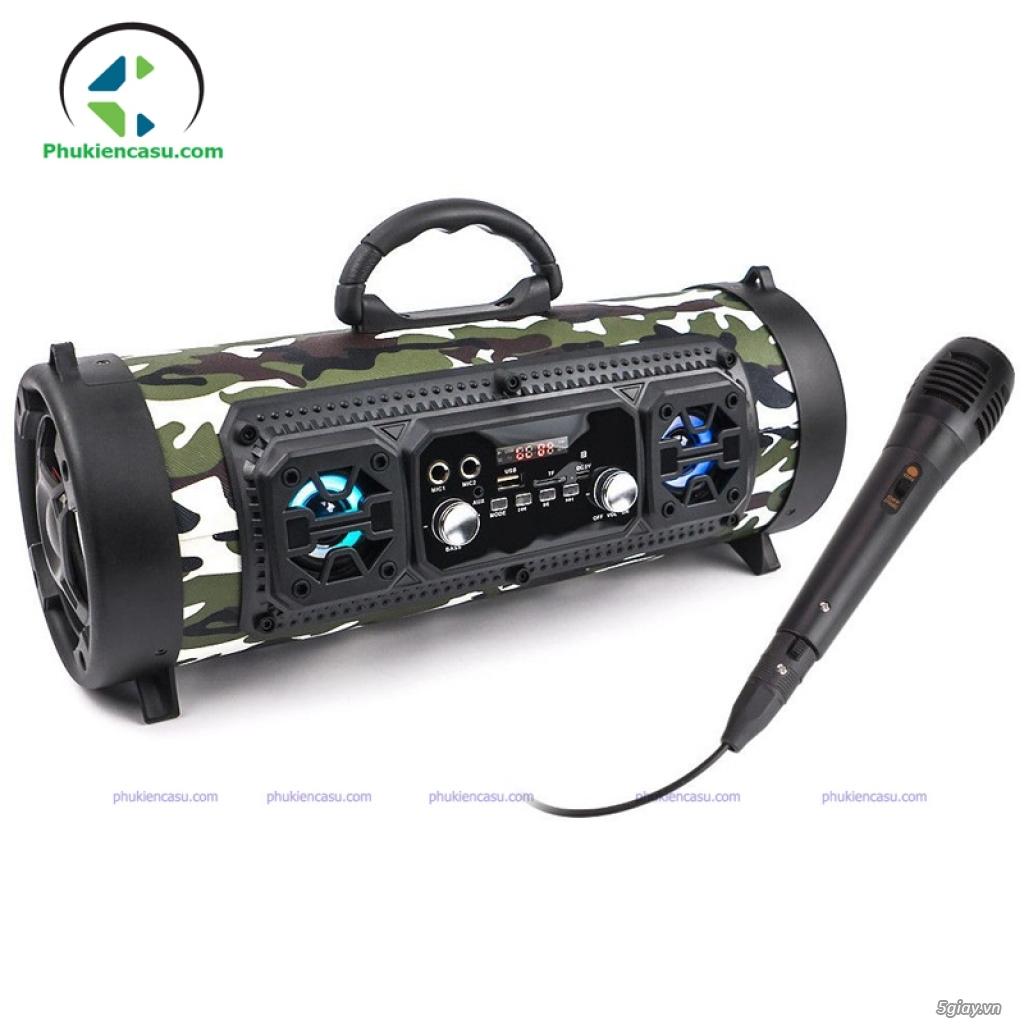 Loa karaoke bluetooth CHM17 loa bluetooth kèm mic