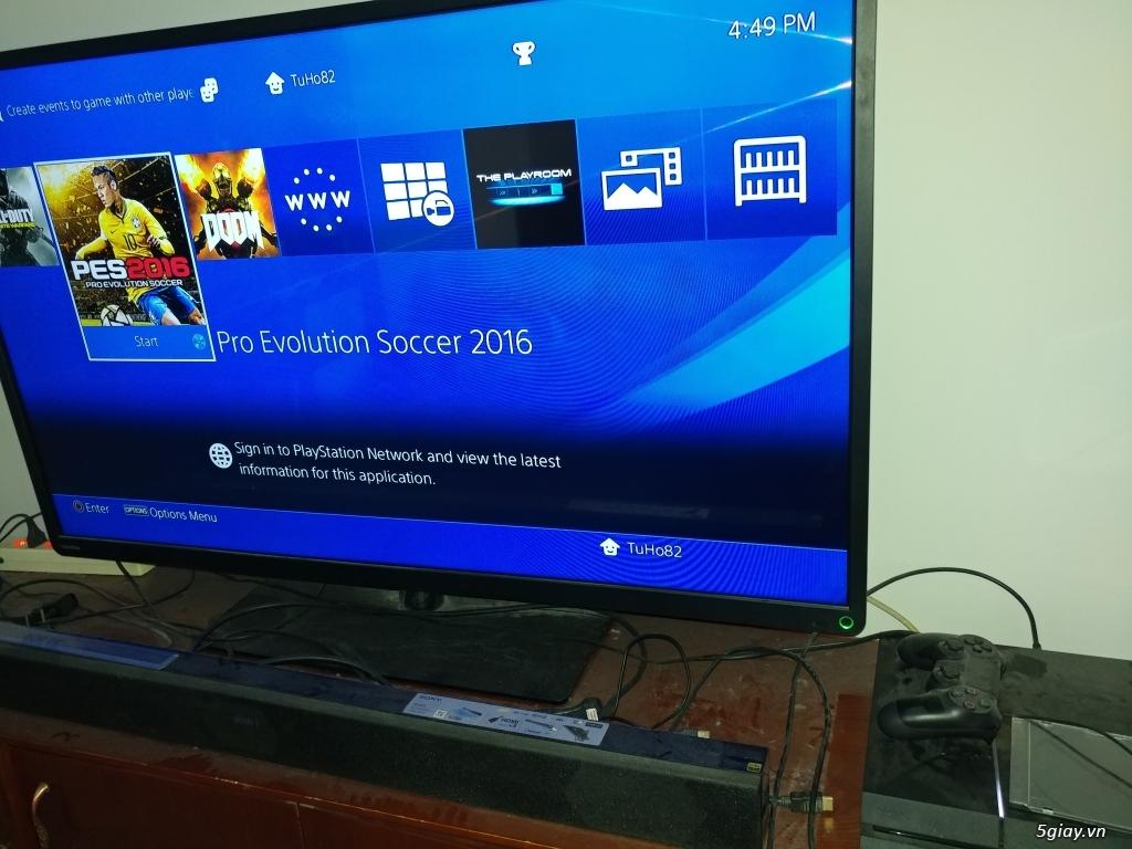 PS4 sony Việt Nam fullbox, 2 tay cầm kèm đĩa PES 2016 giá tốt - 2