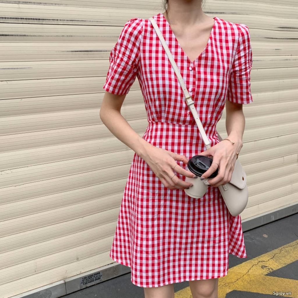 Đầm vintage sơ mi - 7