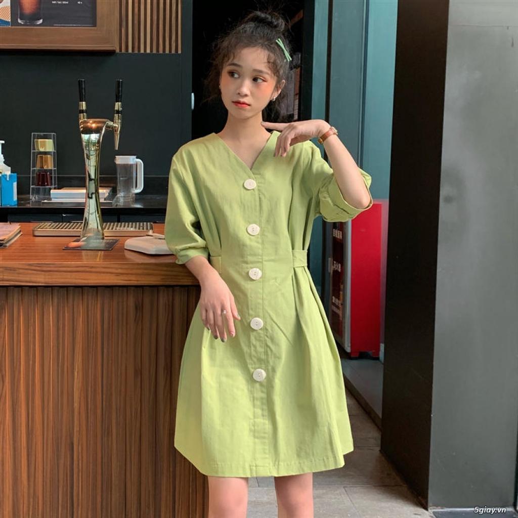 Đầm vintage sơ mi - 8