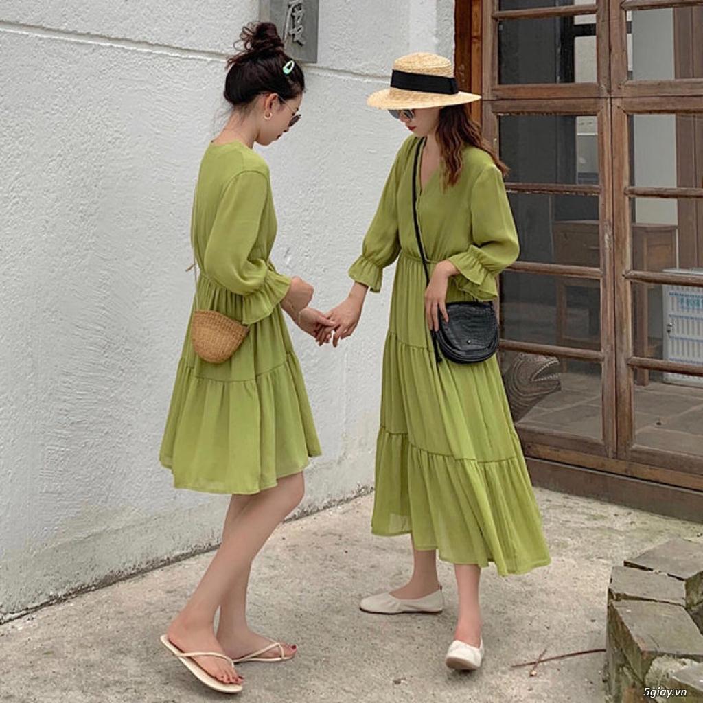Đầm vintage sơ mi - 1