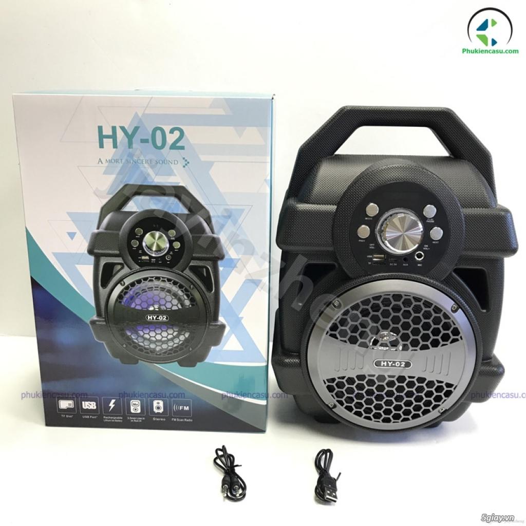 Loa bluetooth karaoke HY02 kèm micro dây loa giá rẻ - 1